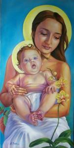 Sainte Anne (Mère de tous les mères) et Marie enfant